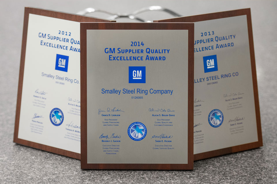 Smalley Awarded Back To Back To Back Gm Supplier Quality