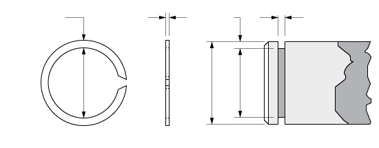 Illustration of an External Constant Section Ring with C-Type Ends