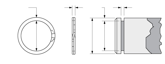 Illustration of an External Spirolox Two-Turn Retaining Ring
