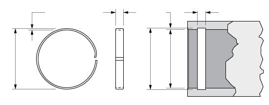 Illustration of an Internal Hoopster Retaining Ring