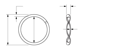 Illustration of an Overlapping Single Turn Wave Spring